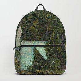Cypresses Painting Vincent Van Gogh Backpack
