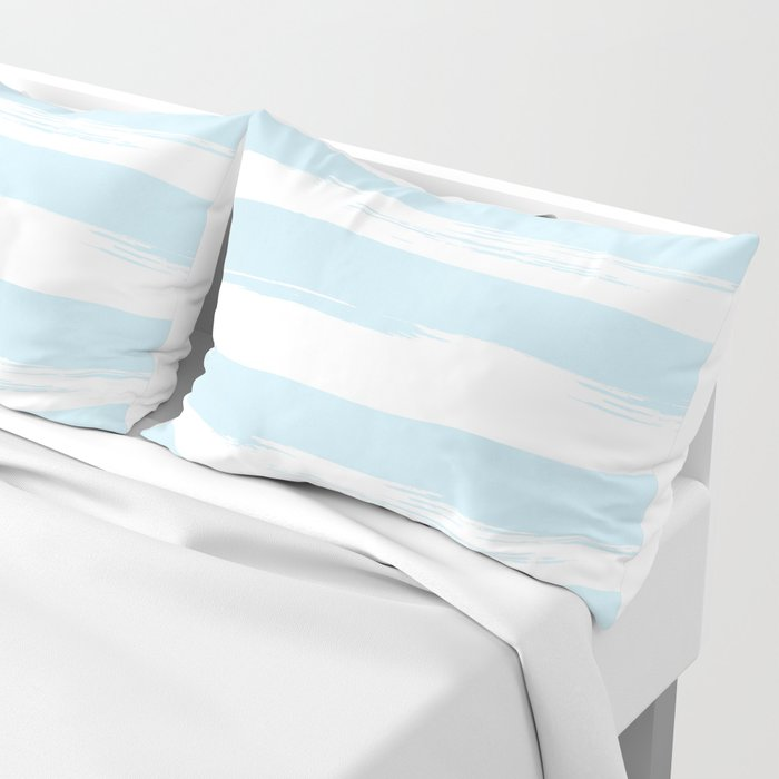 Pastel Blue Stripes Pillow Sham