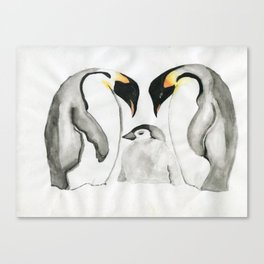 Unconditional Love In the Arctic Canvas Print