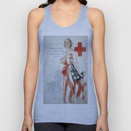 Vintage poster - American Red Cross Unisex Tank Top