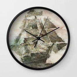Mary Celeste - a ghost ship Wall Clock