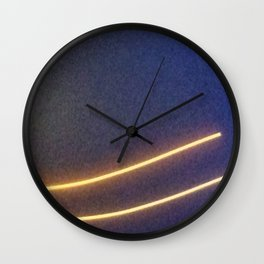 Abstracte Light Art in the Dark Version 41 Wall Clock