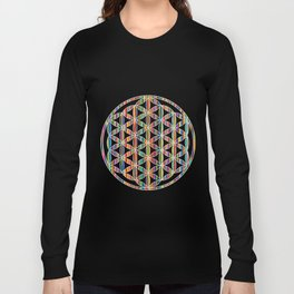 Flower of Life Colored | Kids Room | Delight Long Sleeve T-shirt