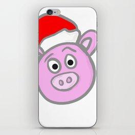 Christmassy Pig iPhone Skin
