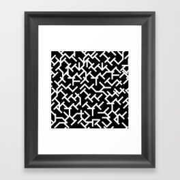 Geometric Labyrinth Framed Art Print