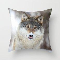 Wolf nose Throw Pillow