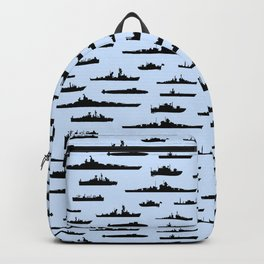 Battleship // Light Blue Backpack