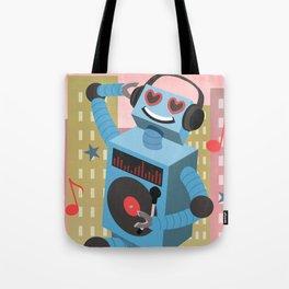 Robot DJ Tote Bag