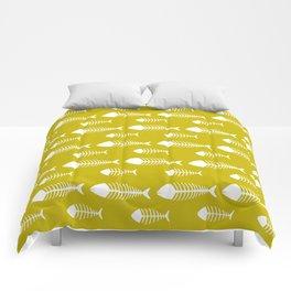 Ogre Yellow Fish Skeleton Pattern Design Comforters