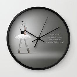 Ballerina with shoes Wall Clock