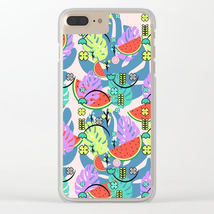 Fresh summer Clear iPhone Case