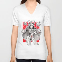 BOMB DEMON GIRL Unisex V-Neck