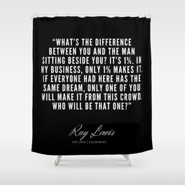 33  | Ray Lewis Quotes 190511 Shower Curtain