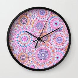 Mandala Maze Pink Wall Clock