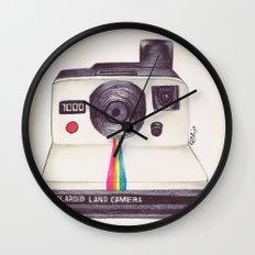 Ballpoint Pen Polaroid Wall Clock