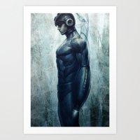 mega man Art Prints featuring Mega Real Man by Artgerm™