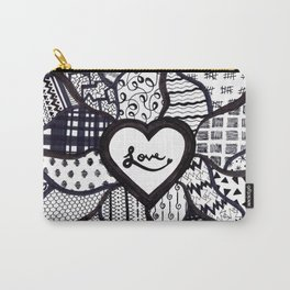 Free Hand Drawn Love Pattern Carry-All Pouch