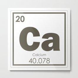 Calcium Metal Print