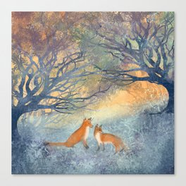 The Two Foxes Canvas Print