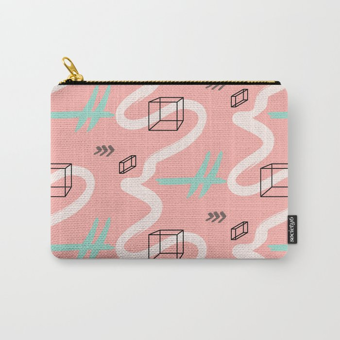 rectangles vs coral lines Carry-All Pouch