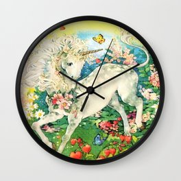 Rainbow Unicorn Garden Wall Clock