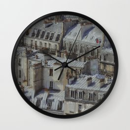 city roofs Wall Clock