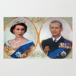Queen Elizabeth 11 & Prince Philip in 1952 Rug