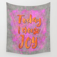 olivia joy Wall Tapestries featuring Joy    by LebensART