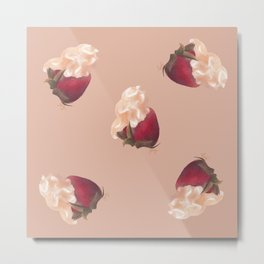 Strawberry Clouds Metal Print