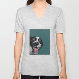 Maeby the border collie mix Unisex V-Neck