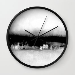 foggy view Wall Clock