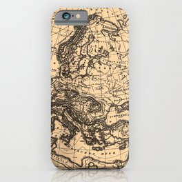Iconographic Encyclopedia of Science, Literature and Art (1851) - Physical Map of Europe iPhone Case