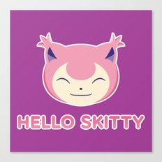 Hello Skitty Canvas Print