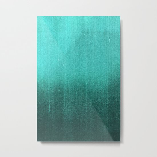 BLUR / abyss / turquoise green Metal Print