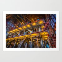 Allis Triple Expansion Engine Art Print