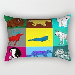 Arctic animals pop art Rectangular Pillow