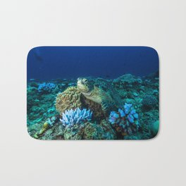 Sea Turtle on the Great Barrier Reef Bath Mat