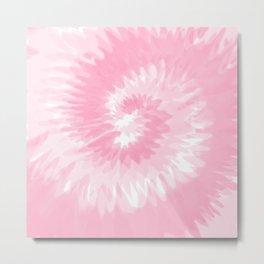 Pastel Pink Tie Dye  Metal Print