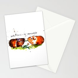 Guinea Pigs Feeling Awkward Stationery Cards