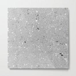 Gray Shine Texture Metal Print