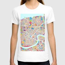 New Orleans Street Map T-shirt