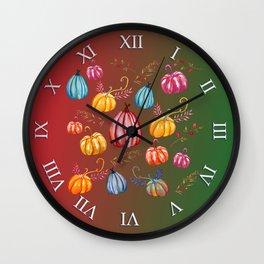 Colorful Pumpkins Wall Clock
