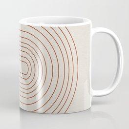Burnt Orange Line Art Coffee Mug
