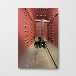 Abandoned Silk Mill Wagon Vault Metal Print