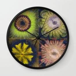Methylator Structure Flowers  ID:16165-011604-36970 Wall Clock