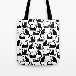 Bad Cats Knocking Stuff Over Tote Bag