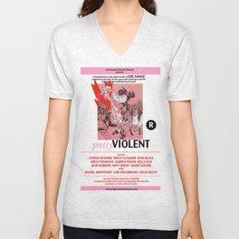 Junxploitation Poster (Pretty Violent) Unisex V-Neck