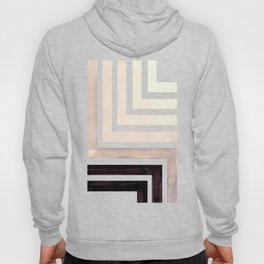 Grey Mid Century Modern Watercolor Colorful Ancient Aztec Art Pattern Minimalist Geometric Pattern Hoody