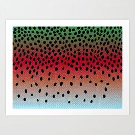 Rainbow Camouflage  Art Print