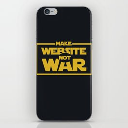 make website not war iPhone Skin